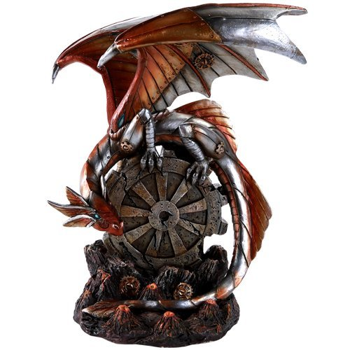Pacific Giftware Steampunk Inspired Mechanical Gearwork Dragon Sculpture 10 Inch
