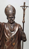 Catholic Pope Saint John Paul 2 Statue Icon Scene