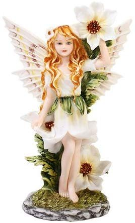 Meadowland Flower Fairy Statue Polyresin Figurine Home Decor