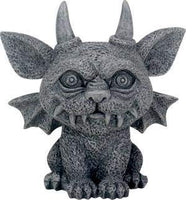 SUMMIT COLLECTION 3.25 Inch Medieval Dark Grey Winged Gothic Gargoyle Guardian Bast Desk and Shelf Decoration