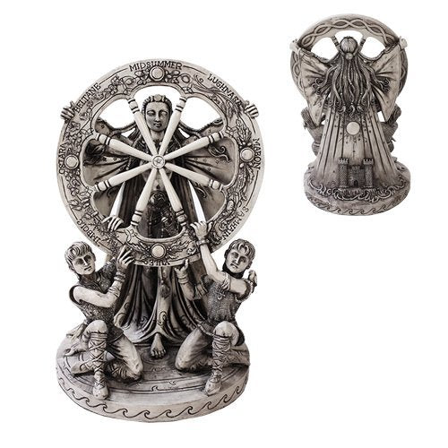 Celtic Cosmic Star Moon Goddess Arianhod Home Decor Statue Made of Polyresin