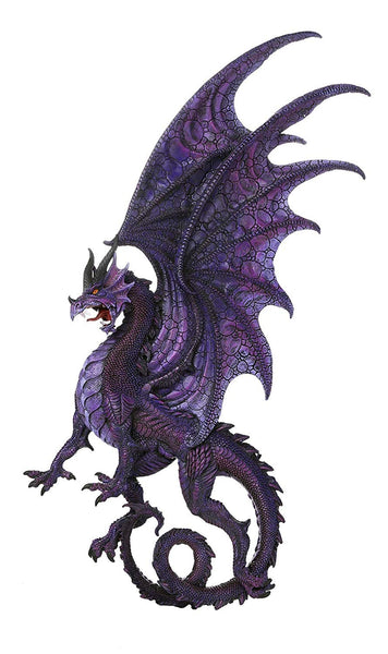 Pacific Giftware Draconis Moon Purple Dragon Wall Plaque Wall Decor Collectible 34 Inch H