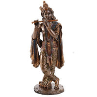 Pacific Giftware Radha Krishna Hindu Deity Figurine Set Indian Deity Collectible 10 Inch (Krishna)