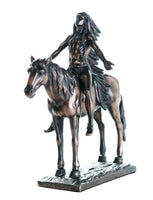 Pacific Giftware Appeal to The Great Spirit Bronze Finish Native American Indian Warrior Collectible Figurine 8 H