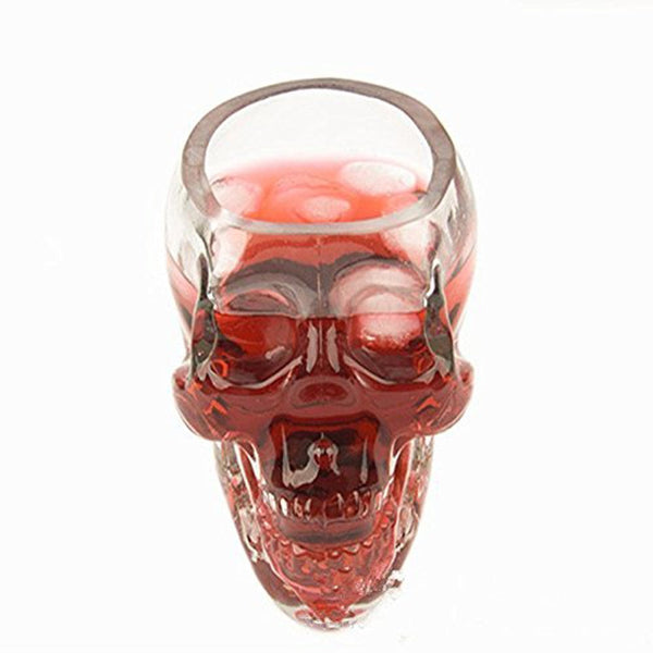Skull Head Crystal Glass Vodka Shot Glass Whiskey Drinking Ware Home Bar Cup, 80ML, 5.82OZ