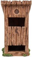 Pacific Giftware Miniature Fairy Garden Wooden Outhouse Toilet with Door Figurine Display 5.75 Inches
