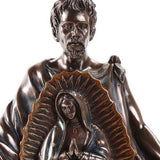 Saint Juan Diego With Image of Our Lady of Guadalupe Miracle Collectible Figurine 10 Inch