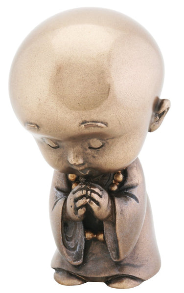 Joyful Monk Praying Baby Buddha Figurine