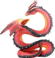 10.5 Inch Red Orange and Black Chinese Themed Dragon Baal
