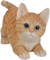 Pacific Giftware Realistic and Playful Orange Tabby Kitten Collectible Figurine Amazing Detail Glass Eyes Hand Painted Resin Life Size 8 inch Figurine Perfect for Cat Lover Collectible