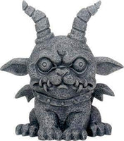 SUMMIT COLLECTION 3.75 Inch Medieval Dark Grey Winged Gothic Gargoyle Guardian Agamon Desk and Shelf Decoration