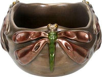 SUMMIT COLLECTION Art Nouveau Dragonfly Bowl