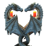 Pacific Giftware Altar Drake Double Dragon Candle Holder Stand Sculptural Home Decor 9 Inch Tall