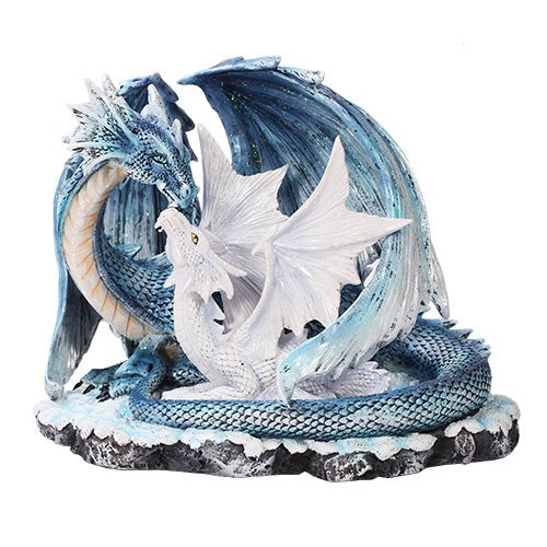 Pacific Giftware Beautiful Dragon Family Mother with Young Dragon Figurine
