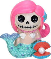 SUMMIT COLLECTION Furrybones Ariel Signature Skeleton in Mermaid Costume Beside Clam with Pearl