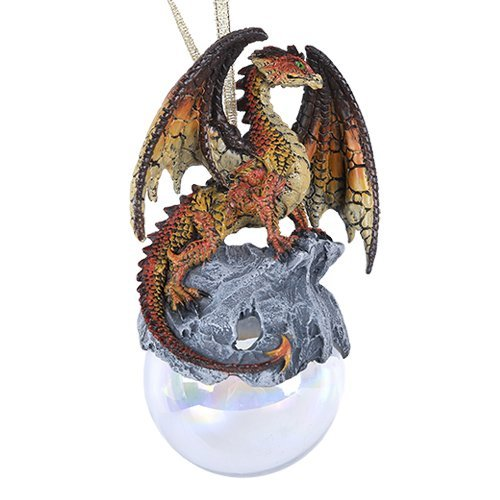 Pacific Giftware Hyperion Dragon Glass Ball Ornament by Ruth Thompson Tree Decoration Gift Decor