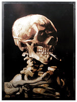 10 Inch Van Gogh - Skeleton with Cigarette Wall Art Decoration