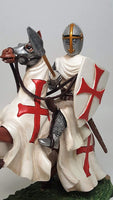 Pacific Giftware Crusader Knight Holding Spear Calvary On Horseback Defending Crusader Kingdoms Figurine