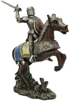 Chivalry Knight on Horse Collectible Made of Polyresin