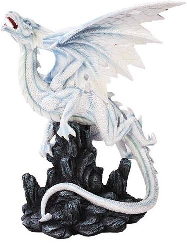 Growl White Dragon Statue