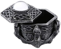 Pacific Giftware Medieval Fantasy Dragon Claw with Crystal Orb Decorative Trinket Box