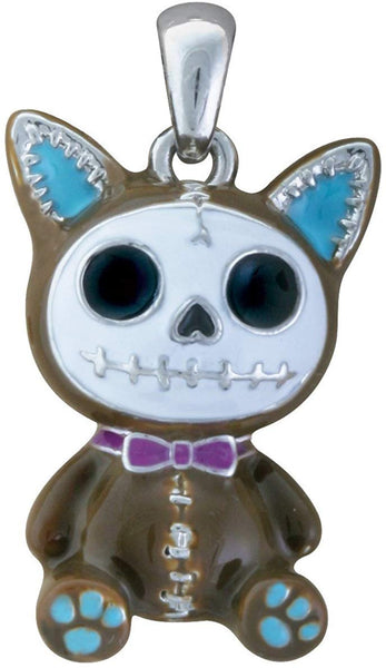 SUMMIT COLLECTION Furrybones Mocha Cat Mao Mao Skeleton Boy Pendant Jewelry