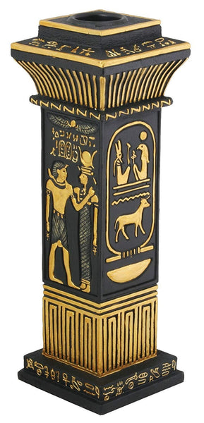 YTC Egyptian Column Votive/Candle Holder - Collectible Egypt Aroma Scent
