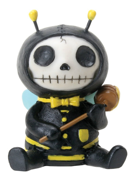 SUMMIT COLLECTION Furrybones Buzz Signature Skeleton in Bumble Bee Costume Holding a Honey Spoon