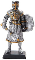 PTC 5 Inch Medieval Knight with Sword and Classic Shield Statue Figurine