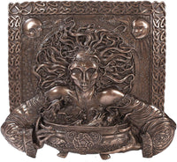 Celtic Goddess Cerridwen Wall Decor Plaque Bronze Finish Maxine Miller