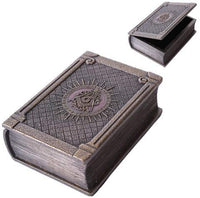 Masonic Symbol Bronze Color Painted Book Box Made of Resin