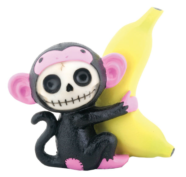 Furry Bones Black Munky Monkey Statue