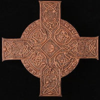 Pacific Giftware Elemental Celtic Cross Wall Sculpture Decor Wood Finish by Maxine Miller 11.25 Inch L