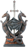Dbl Dragon Letter Opener - Collectible Figurine Office Decoration