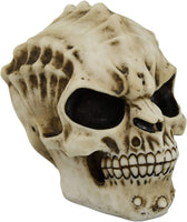 PTC 6.75 Inch Growling Demon Skeleton Skull Resin Statue Figurine