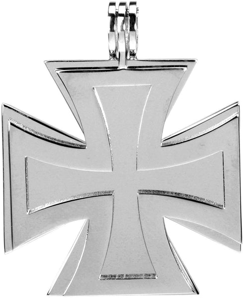 YTC Summit Twin Iron Cross Pendant - Collectible Medallion Necklace Accessory