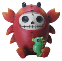 SUMMIT COLLECTION Furrybones Scuttle Signature Skeleton in Lobster Costume with Sea Horse