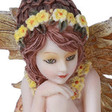 Pacific Giftware Fairy Garden Acorn Flower Fairy Decorative Mini Garden Figurine 3 Inch