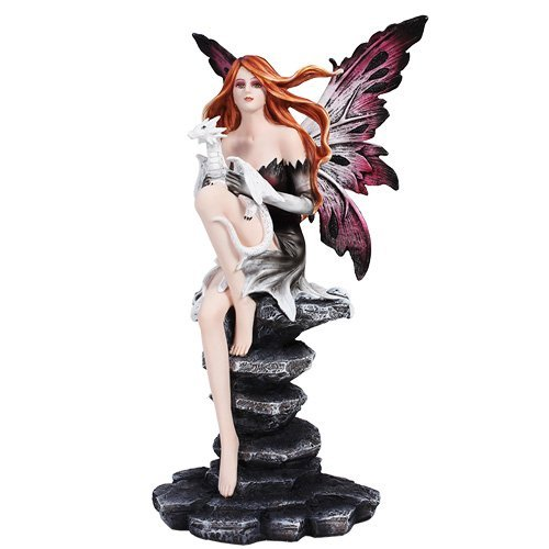 Fairy With Dragons Home Decor Statue Made of Polyresin