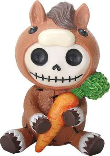 SUMMIT COLLECTION Furrybones Clyde Signature Skeleton in Horse Costume Holding onto a Carrot