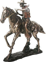 SUMMIT COLLECTION 8744 Cowboy on Horse Statue