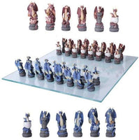 Dragon Legend Chess Set With Glass Board