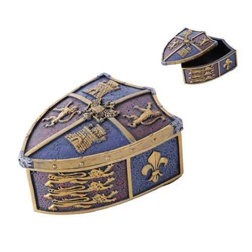 Medieval Crest Jewelry Box Collectible Figurine