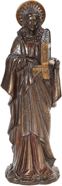 10 Inch St. Cecelia with Musical Instrument Resin Statue Figurine