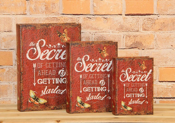 Pacific Giftware The Secret of Getting Ahead is Getting Started Decorative Book Boxes Diversion Safe Set of 3