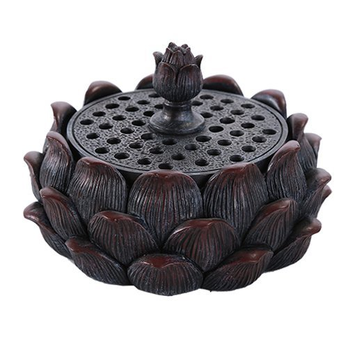 Pacific Giftware Auspicious Lotus Shape Buddha Meditation Incense Burner Holder Infuser