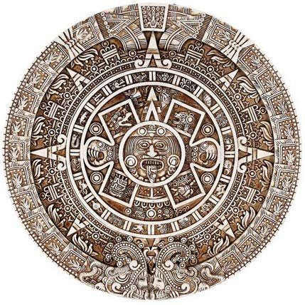 Mexica Aztec Solar Wall Calendar Sculpture Plaque Figurine Mexico Indian