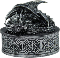Pacific Giftware Medieval Fantasy Mythical Dragon Lidded Treasure Trinket Box
