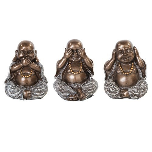 Three Wise Buddha See Hear Speak No Evil Statue Eastern Enlightenment Masterpiece