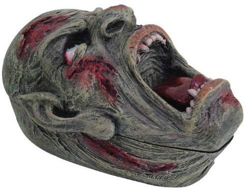 PTC Pacific Giftware Screaming Zombie Skull Jewelry/Trinket Box with Lid Figurine